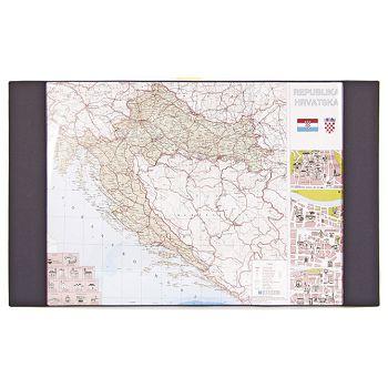 Mapa stolna Hrvatske pvc 71x43cm Kartonplast