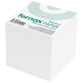 Papir za kocku 9x9x9cm ljepljeni Fornax bijeli