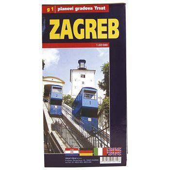 Karta grada Zagrebasloživa