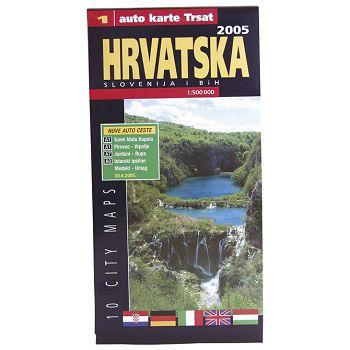 Karta auto RH,BiH,Slovenije Trsat