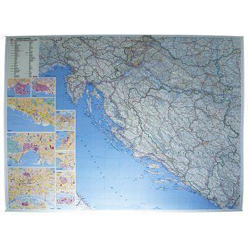 Karta zidna Hrvatskecestovna Trsat