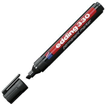 Marker permanentni 15mm klinasti vrh Edding 330 crni