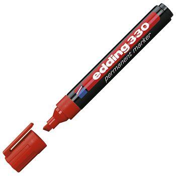 Marker permanentni 15mm klinasti vrh Edding 330 crveni