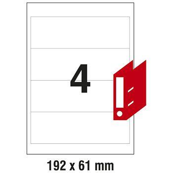 Etikete ILK za registratore 192x61mm pk100L Zweckform L4761100 bijele