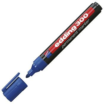 Marker permanentni 1,53mm okrugli vrh Edding 300 plavi