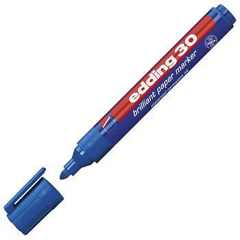 Marker briljant za papir 1,53mm Edding 30 plavi