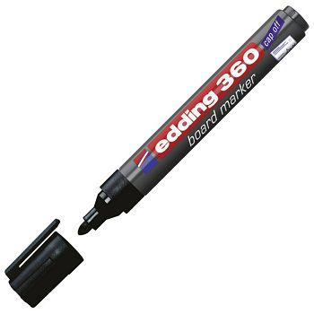 Marker za bijelu ploču 1,53mm Edding 360 crni