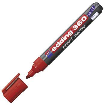 Marker za bijelu ploču 1,53mm Edding 360 crveni