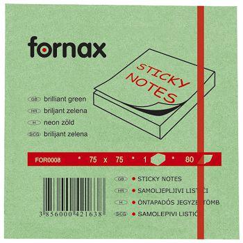 Blok samoljepljiv  75x75mm  80L Fornax neonzeleni