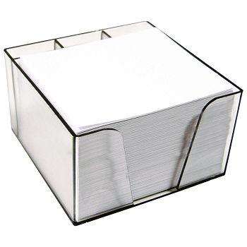 Blok kocka pvc 10x8,5x6cm s papirom bijelim Elisa