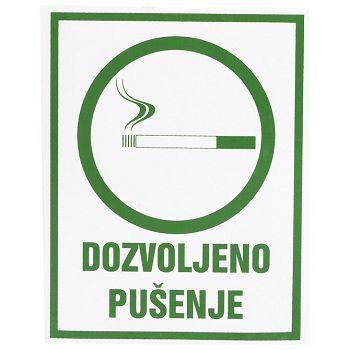 Naljepnice Dozvoljeno pušenje Etikgraf