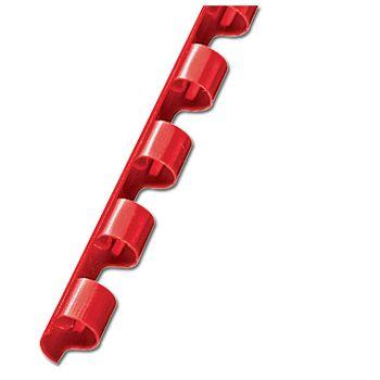 Spirala plastična fi 6mm pk100 Fornax crvena
