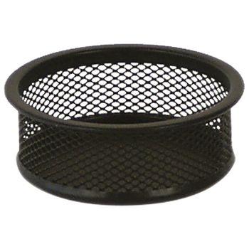 Čaša za spajalice metalna žica fi9,5xh3,2cm LD01198 Fornax crna