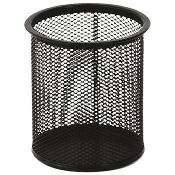 Čaša za olovke metalna žica okrugla fi9xH9,7cm LD01188 Fornax crna