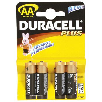 Baterija alkalna 1,5V AA Basic pk4 Duracell LR6 blister