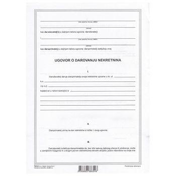 Obrazac A420 ugovor o darivanju nekretnina Fokus