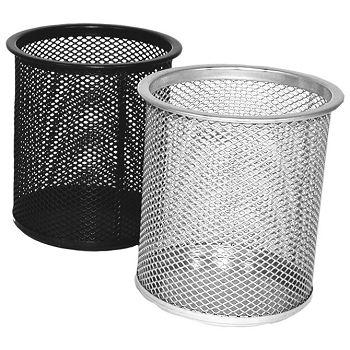 Čaša za olovke metalna žica okrugla fi9xH9,7cm LD01189 Fornax srebrna