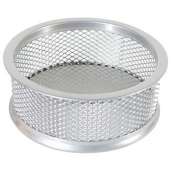 Čaša za spajalice metalna žica fi9,5xh3,2cm LD01199 Fornax srebrna