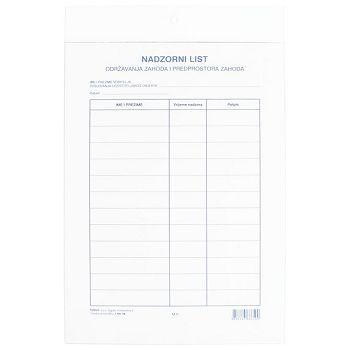Ploča plexi  za nadzorni list