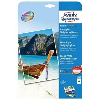 Papir Ink Jet foto premium sjajni 200g A4 pk25 Zweckform 256925