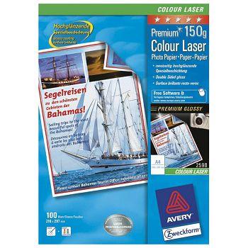Papir Laser foto viski sjajni premazobostrano 150g A4 pk200 Zweckform 2598200