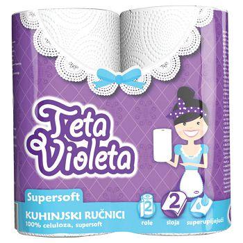 Ručnik papirnati 23cm Super Soft pk2 Violeta bijeli