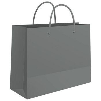 Vrećice ukrasne 24x16x7cm sjajna plastifikacija Fornax srebrne