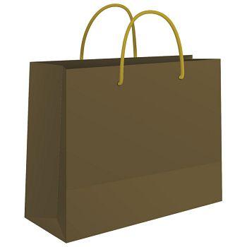 Vrećice ukrasne 24x16x7cm sjajna plastifikacija Fornax zlatne