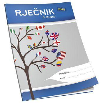 Obrazac školski rječnik B6 40L 3kolone Educa
