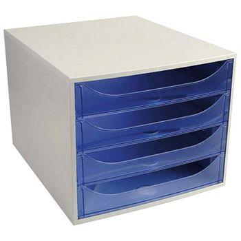Kutija s  4 ladice Ecobox Exacompta 228610D sivoplava