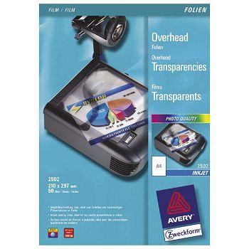 Folija Ink Jet A4 OHP za prezentacije 110my pk50 Zweckform 2502 prozirna