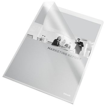 Fascikl L  80my pp A4 mat Copy Safe pk25 Esselte 258120 prozirni