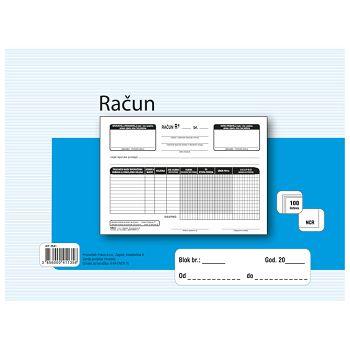Obrazac A641NCR račun A5 bezgotovinski Fokus