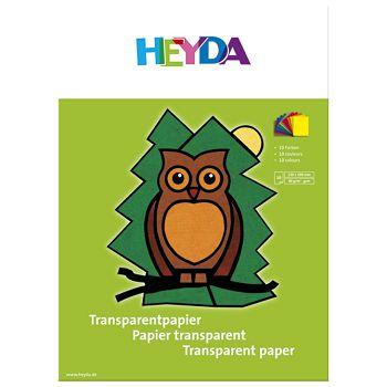 Papir ukrasni Vitraj u boji A4 40g pk10 Heyda 2048021 sortirano