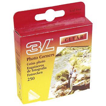 Uglovi za fotografije samoljepljivi pk250 3L01774 prozirni blister