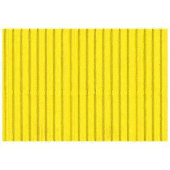Papir ukrasni dvoslojni rebrasti B2 pk10 300g Heyda 2047132 15 limun žuti