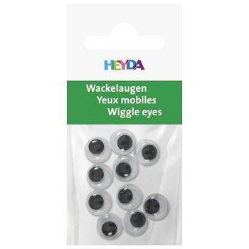 Oči pomične 10mm samoljepljive pk10 Heyda 2048881 10 blister