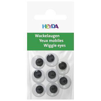 Oči pomične 12mm samoljepljive pk8 Heyda 2048881 12 blister