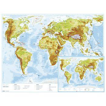Karta svijeta 56x49 plastificirana obostrana