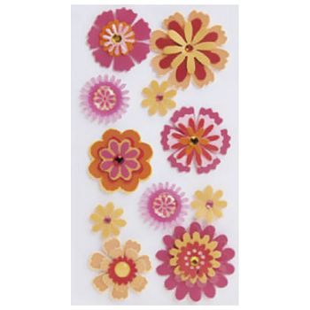 Naljepnice ukrasne 3D Cvijeće Heyda 2037806 86 blister