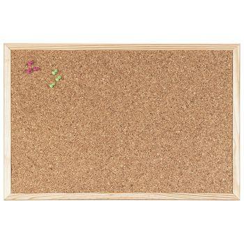 Ploča pluto  40x30cm jednostrana drveni okvir BiOffice
