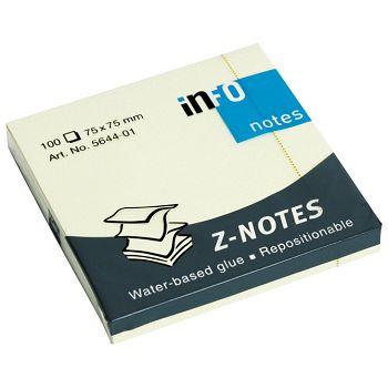 Blok samoljepljiv Z 75x75mm 100L Global Notes 564401 žuti