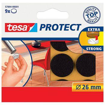 Podložak filc okrugli 26mm pk9 Tesa 578941 smeđi