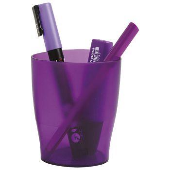 Čaša za olovke pp Exacompta 67619D prozirno ljubičasta