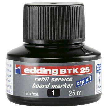 Tinta za marker za bijelu ploču 25ml Edding BTK25 crna