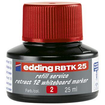 Tinta za marker za bijelu ploču 25ml Edding BTK25 crvena