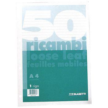 Blok za mapu uložnu 4 rupe A4 crte 50L Blasetti bijeli