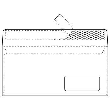 Kuverte ABTPD strip 80g pk100 Fornax