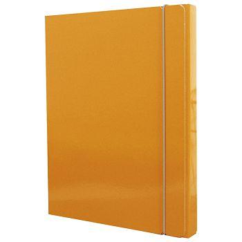 Mapa s gumicom hrbat30mm A4 karton Fornax narančasta
