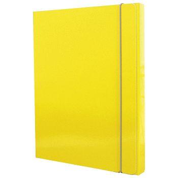 Mapa s gumicom hrbat30mm A4 karton Fornax žuta